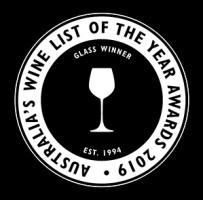 Winner – Gourmet Traveler 'Wine List of the Year' Awards 2019